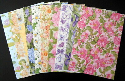 A4 Patterned papers ~ WATER COLOUR FLORALS  x 10 ~ Scrapbooking/Card Making