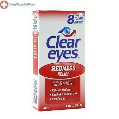 Clear Eyes Redness Relief Eye Drops 1oz: PACK OF 3