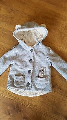 Next Baby Girls bunny Jacket Age 9-12 Months