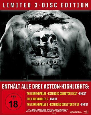 The Expendables - Trilogy Steelbook - Uncut - (1+2+3) # 3-BLU-RAY-NEU