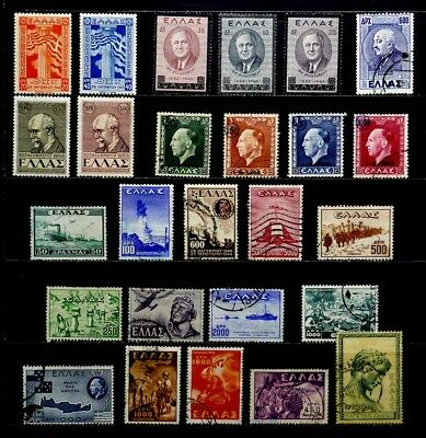 Greece: 1945-50 Stamp Collection Mostly Sets