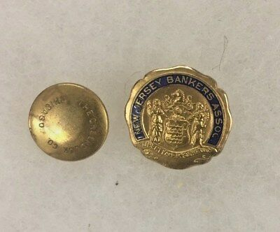 New Jersey Bankers Assoc. Liberty Prosperity Green Duck Co. Screw Back Pin