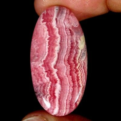 37.40Cts 100% Natural Pink Rhodochrosite Oval Cabochon Loose Gemstone