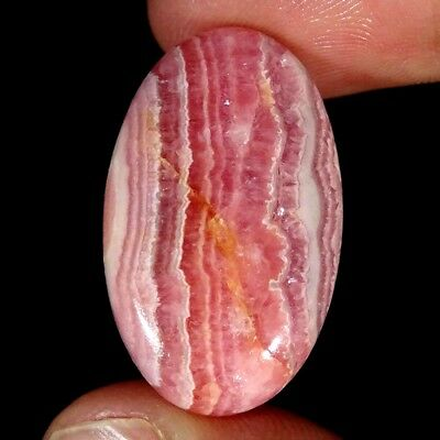 30.60Cts 100% Natural Pink Rhodochrosite Oval Cabochon Loose Gemstone