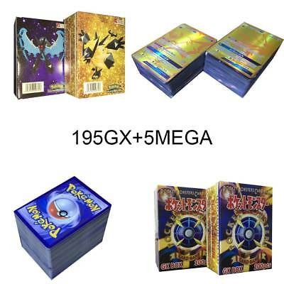 200 Stück Pokemon Karten GX Karte Alle MEGA Holo Flash Art Trading Card Toy Gift