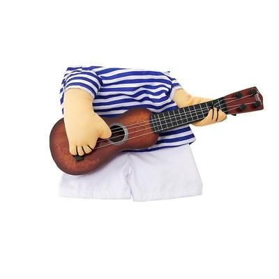 Funny Pet Guitar Player Dog Costume Dress Up Party Cosplay Clothes Halloween LC