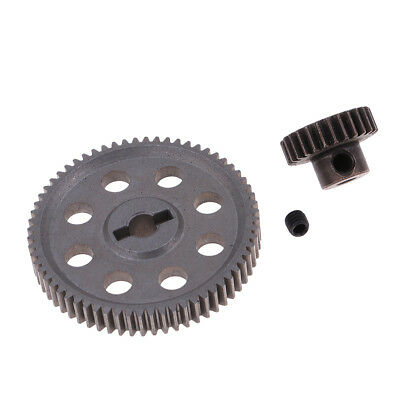 Steel Spur Diff Differential Main Gear 64T RC Motor Pinion 26T for HSP 94123