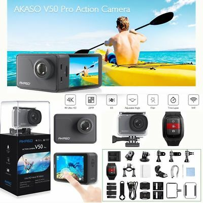 AKASO V50 PRO Native 4K/30fps 20MP WiFi ACTION CAMERA WATERPROOF EIS Camcorder