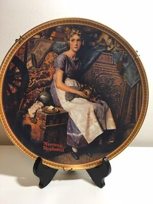 """Norman Rockwell """"Dreaming in the Attic"""" Collector Plate"""