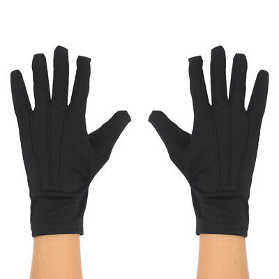 Childs Short Black Gloves Unisex Boys Girls Magician Accessory Fancy Dress