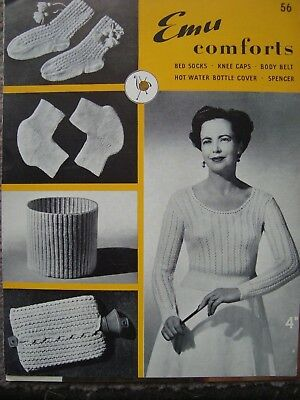Vintage 50/'s Knitting Pattern Lady/'s Trim /& Tailored Jumper Fit 30-38in.Bust