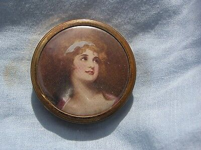 "Vintage Dubarry Powdrette ""rachel"" Ladies Powder Compact - Mirroe - Pad"
