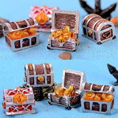 Fish Tank Aquarium Ornament Mini Resin Treasure Chest Sea Bottom Decoration