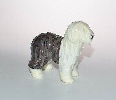 Hand made lampwork glass dog bead ( figurine ) - Old English Sheepdog