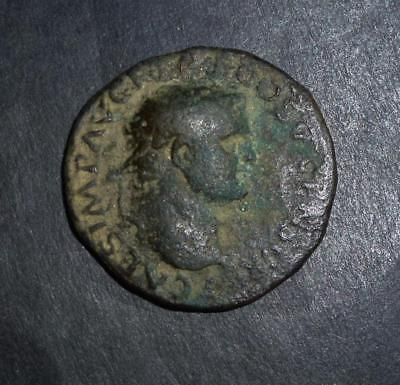 Roman bronze coin of Titus found metal detecting