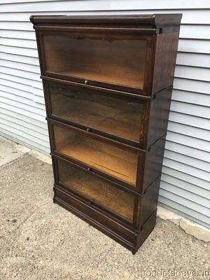 Antique Oak Wernicke Sectional Stacking Barrister / Lawyers Bookcase