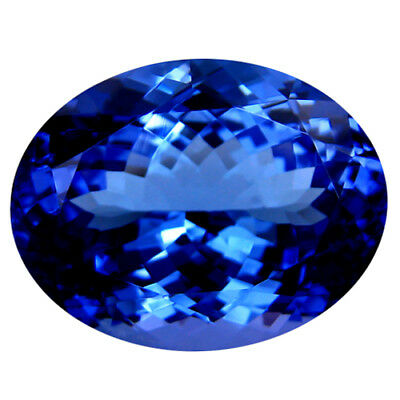 """13.11Ct """"GIA"""" CERTIFIED ! TOP RICH FIRE AAAA+ BLUISH VIOLET NATURAL TANZANITE"""