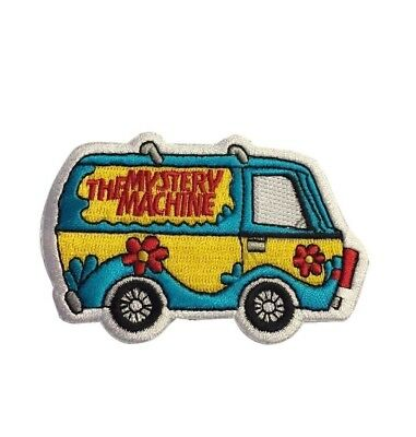 """Scooby Doo The Mystery Machine Van Colorful 3.25"""" Wide Embroidered Iron On Patch"""