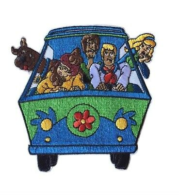 Scooby Doo Mystery Machine Van With The Gang Embroidered Iron On Costume Patch