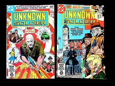 The Unknown Soldier. #250 & 256. 1981. Dc .war Comic. Vf/nm (9.0)