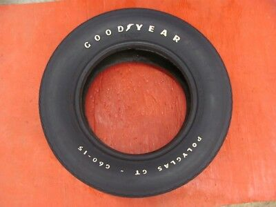 Original Goodyear Polyglas GT G60-15 Tire READ! OK For Correct Looking Spare