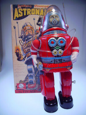 "GSR ROBOT OSAKA TIN TOY INSTITUT OT06-0783 ""ASTRONAUT"" RED, NEU/NEW/NEUFnBOX !"