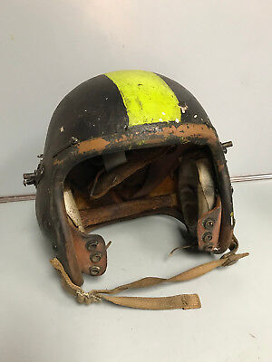Vinage Early US Air Force Pilot Helmet Leather P-3