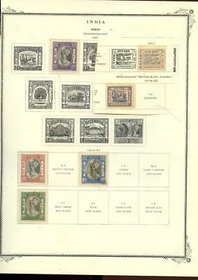 India & States 7 Pages Collection Lot Jaipur Indore $$$$$$$