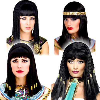 Egyptian Cleopatra Wigs Ladies Fancy Dress Ancient Egypt Adult Costume Accessory