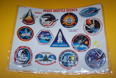 original Space Shuttle decals NASA sealed vintage Columbia Challenger patches