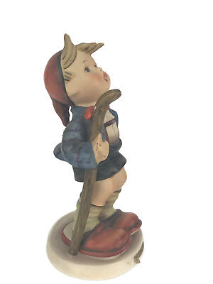 Vintage Hummel Goebel The Little Hiker Figurine Boy W. Germany Staff Repaired