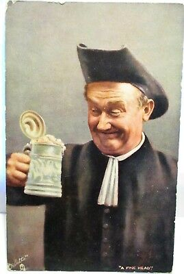 1905 Raphael Tuck Postcard The Jolly Priest,a Fine Head