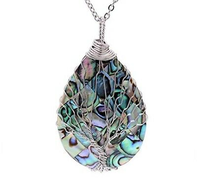 Beautiful necklace, Sedmart Tree of life pendant Amethyst Rose Crystal Necklace