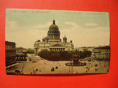 1907 Russian Imperial Town View St. Petersburg.  Isaac's Cathedral.