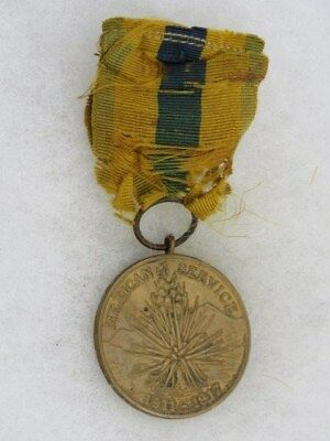 """Original Army Mexican Service Medal-1911-1917-Rim Marked """"10723"""""""