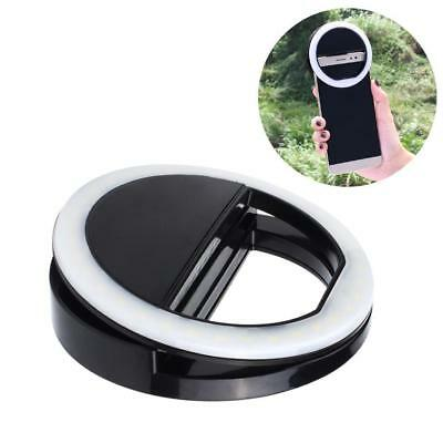 Portable Selfie LED Ring Flash Light Camera Photography For iPhone MobilePhones