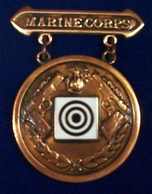 Marine Corps Pistol EIC Excellence In Competition Badge Medal, Bronze, National