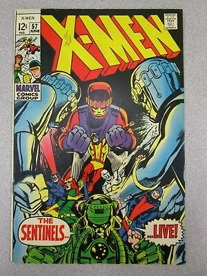 1969 X-Men #57 Marvel Comic Book - Very Nice!! The Sentinels