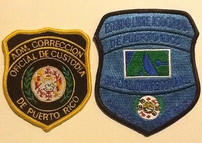 Set Of Vintage & Current Puerto Rico Department Of Corrections Officers Patches