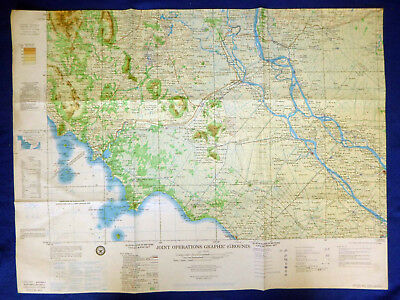 Joint Operations - 1966 MAP - NC 48-6 - Cambodian Border - Vietnam War Black Ops