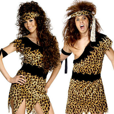 Caveman or Cavewoman Adults Fancy Dress Pre-Historic Stone Age Barbarian Costume