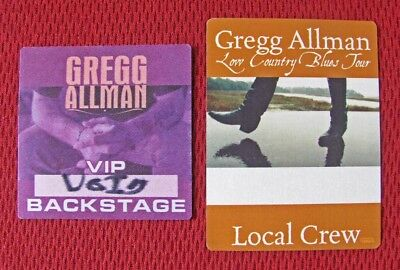 """Gregg Allman: 2 Concert Passes — """"low Country Blues"""" Tour 2011 + Vip Backstage"""