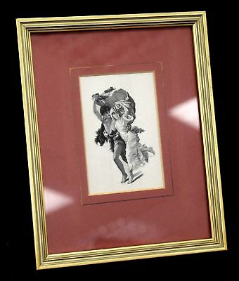 CASH'S French Series 'L'orage' EMBROIDERED ARTWORK / Framed - B10