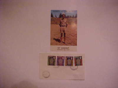 Boy Scouts of America World Scouts in Uniform Post Card & Stamps FDC St. Vincent