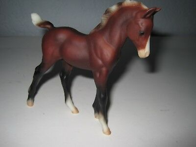 Unmarked Mare Horse Pony Foal Classic Brown Black & White Breyer