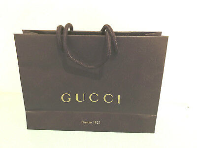 new gold embossed brown gucci gift bags -bling up your gifts!