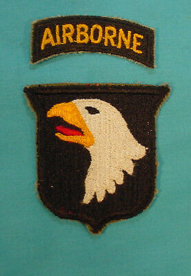 Original Wwii Us Army 101St Airborne Screaming Eagle Patch