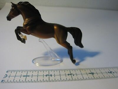 Breyer Reeves Stablemate Horse Mare Brown Gold Black with Stand Pony Foal