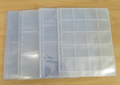 Clear Plastic Coin / Banknote Sleeves - Coin Album Sheets / Wallets, 2, 3, 4, 20
