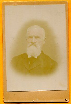 Portrait of a Bearded Man, circa 1890s Old Cabinet Card